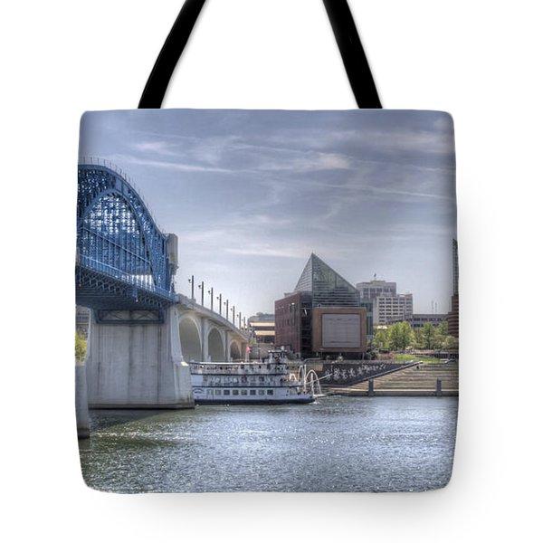 Riverfront Tote Bag by David Troxel