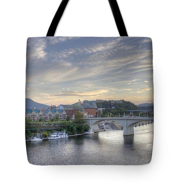 Riverfront View Tote Bag