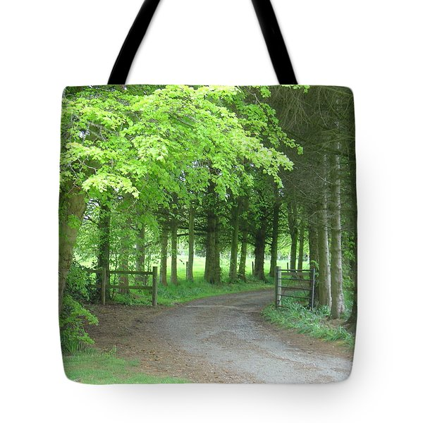 Road Into The Woods Tote Bag
