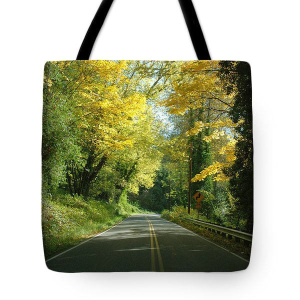 Road Through Autumn Tote Bag by Kathleen Grace