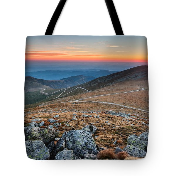 Road To Sunrise Tote Bag by Evgeni Dinev