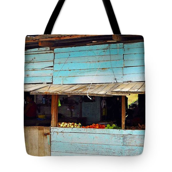 Roadside Fruit Stand- Belize Tote Bag by Li Newton