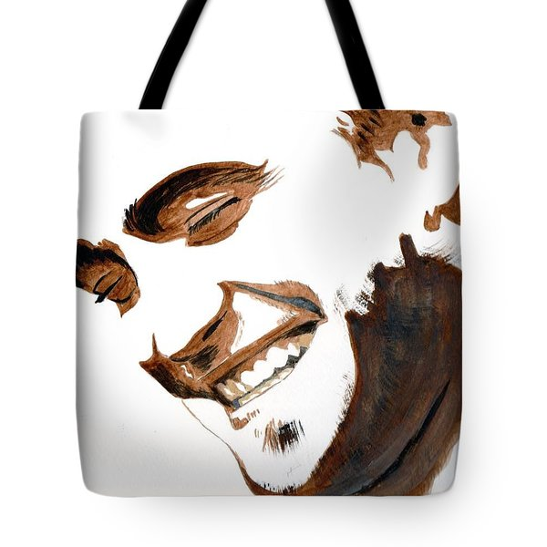 Tote Bag featuring the painting Robert Pattinson 16 by Audrey Pollitt