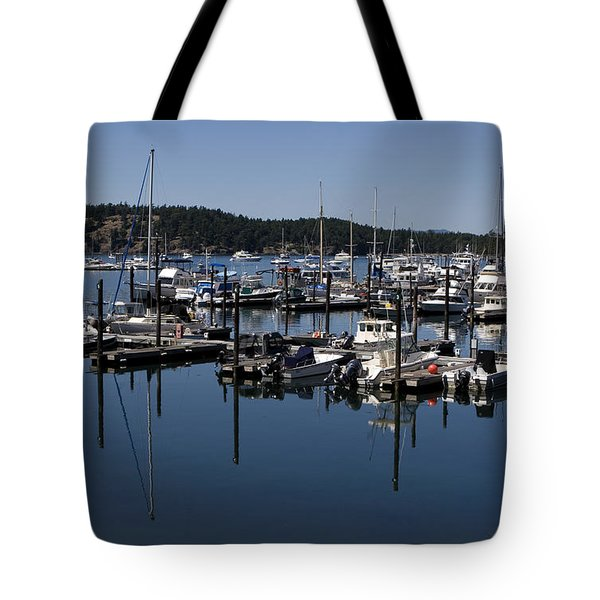 Roche Harbor Reflected Tote Bag