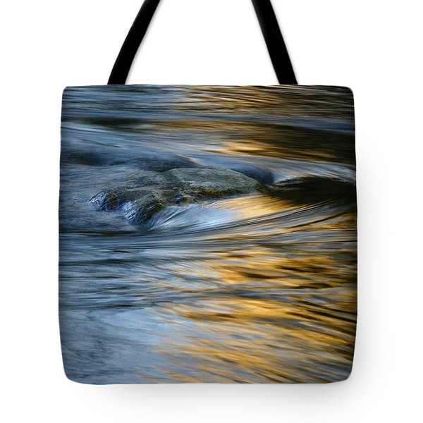 Rock And Blue Gold Water Tote Bag