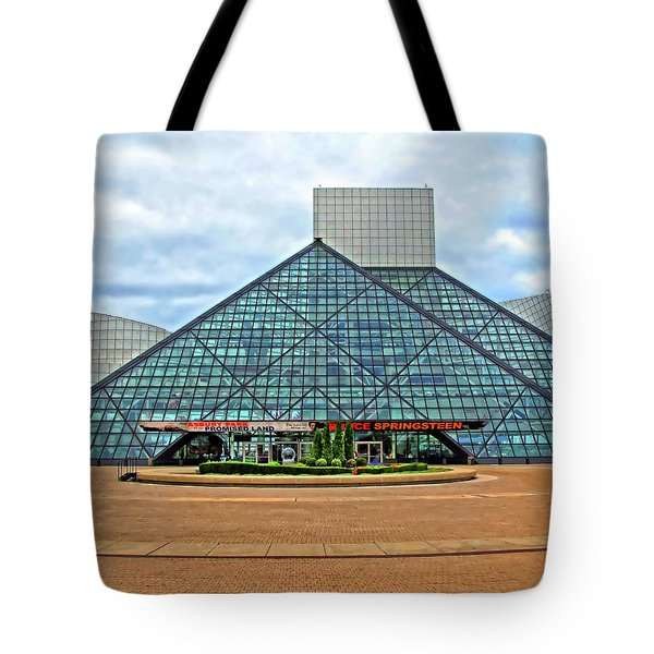 Rock And Roll Hall Of Fame Tote Bag by Dave Mills