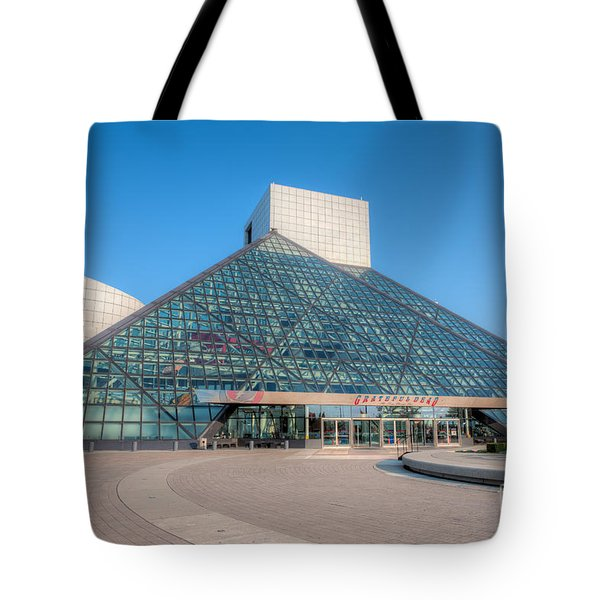 Rock And Roll Hall Of Fame II Tote Bag by Clarence Holmes