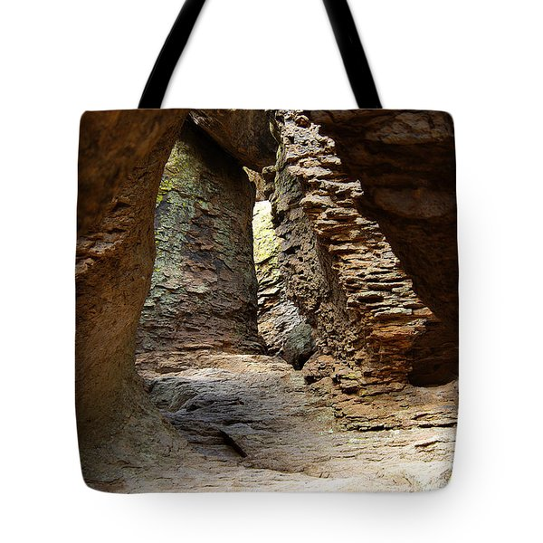 Tote Bag featuring the photograph Rock Chamber by Vicki Pelham