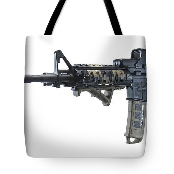 Rock River Arms Ar-15 Rifle Tote Bag by Terry Moore