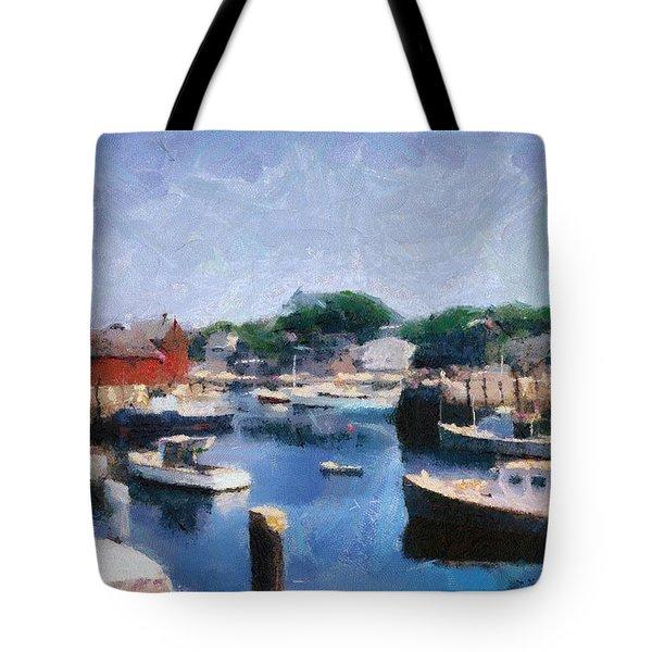 Rockport Maine Harbor Tote Bag by Michelle Calkins
