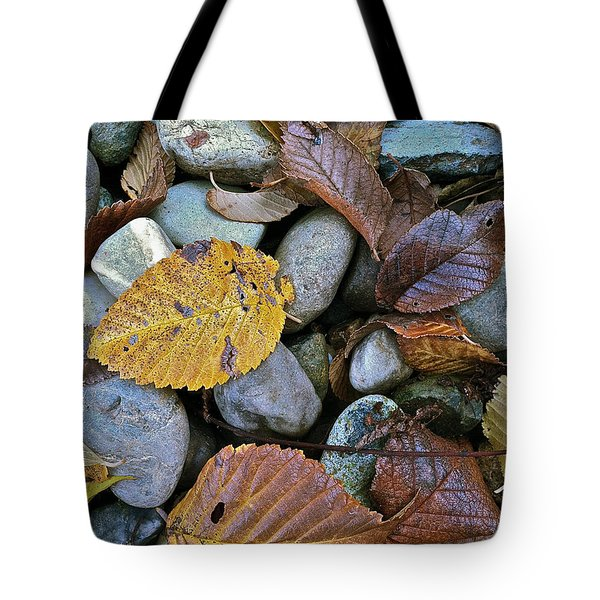 Rocks And Leaves Tote Bag by Bill Owen