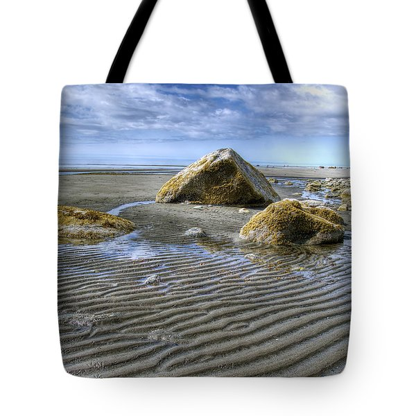 Rocks And Sand Tote Bag by Michele Cornelius