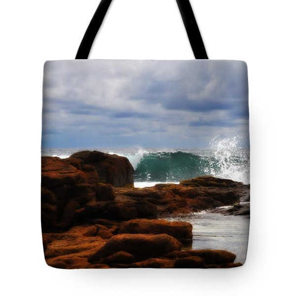 Rocks And Surf Tote Bag by Phill Petrovic