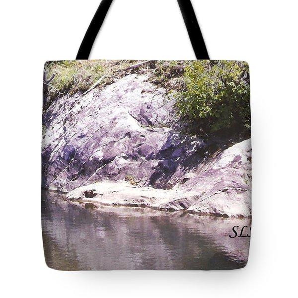 Rocks On The Bank Tote Bag