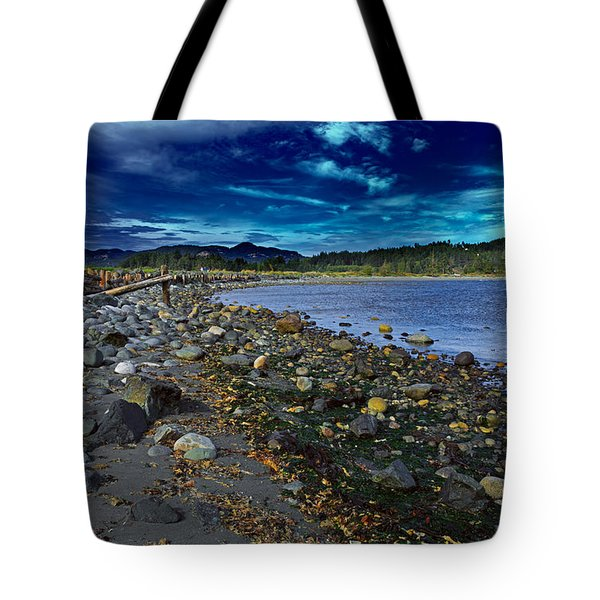 Rocky Beach In Western Canada Tote Bag by Louise Heusinkveld