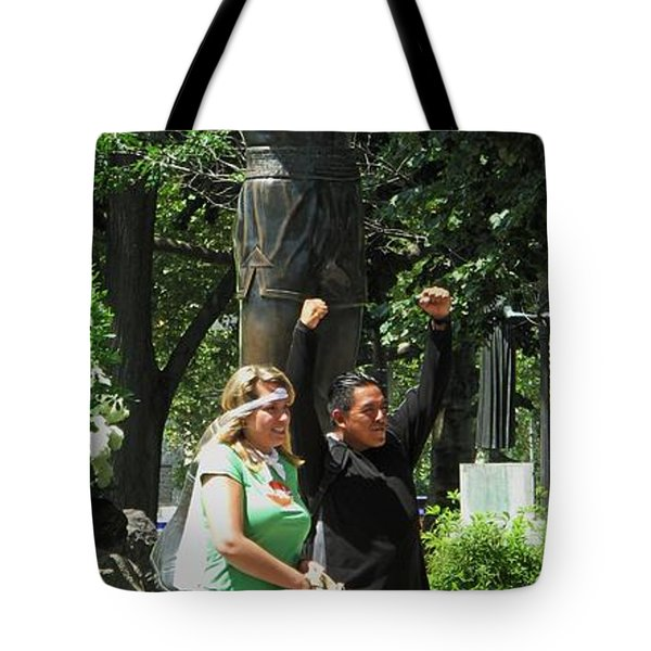 Rocky In Philadelphia Tote Bag by Ian  MacDonald