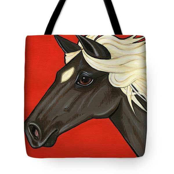 Rocky Mountain Pony Tote Bag by Leanne Wilkes