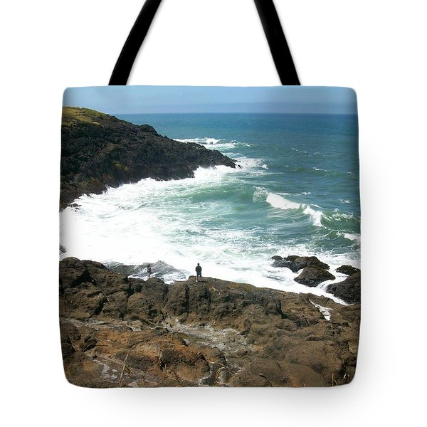 Rocky Ocean Coast Tote Bag
