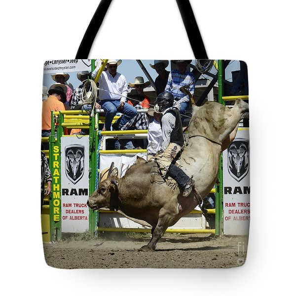 Rodeo Bull Riding Star Tote Bag