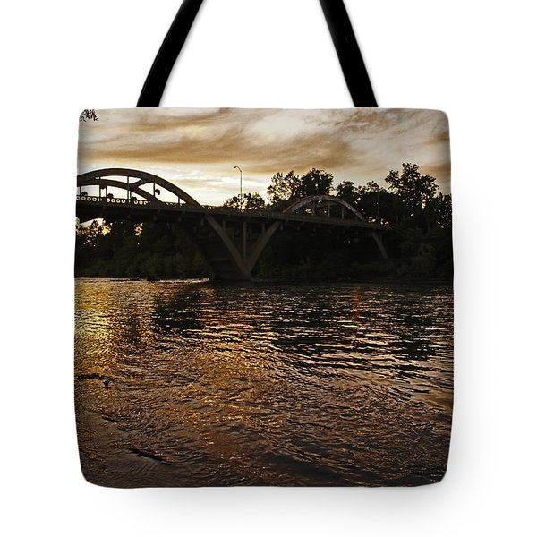 Rogue River Sunset Tote Bag