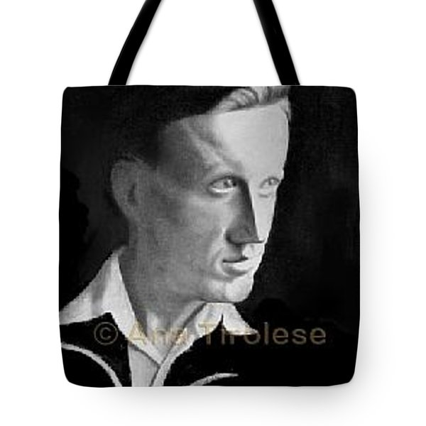 Tote Bag featuring the drawing Rolfs Alksnis by Ana Tirolese