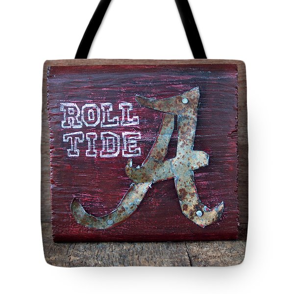 Roll Tide - Small Tote Bag by Racquel Morgan