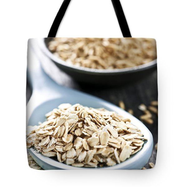 Rolled Oats And Oat Groats Tote Bag by Elena Elisseeva