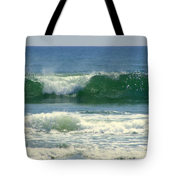 Tote Bag featuring the photograph Rolling Wave by Kelly Nowak