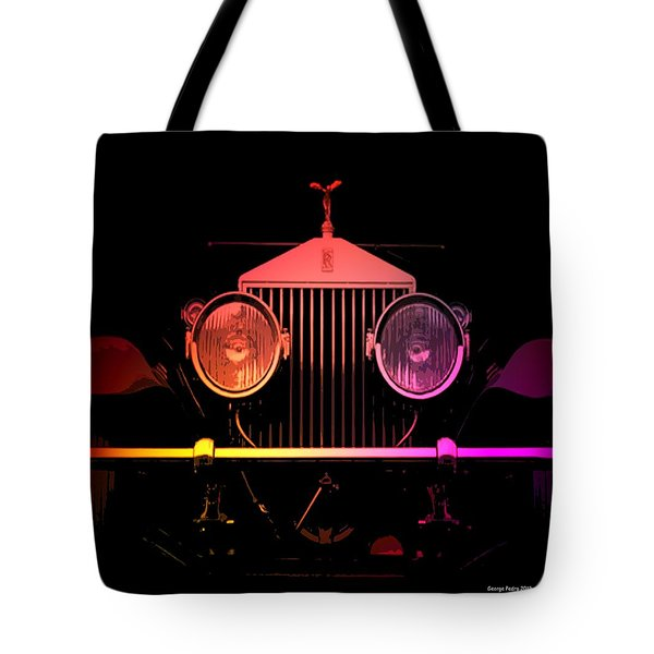 Tote Bag featuring the photograph Rolls Royce Smile by George Pedro