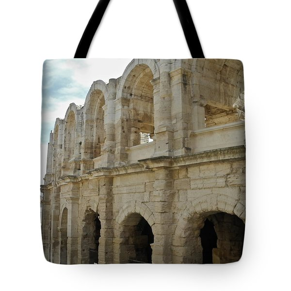 Tote Bag featuring the photograph Roman Coliseum In Arles by Kirsten Giving