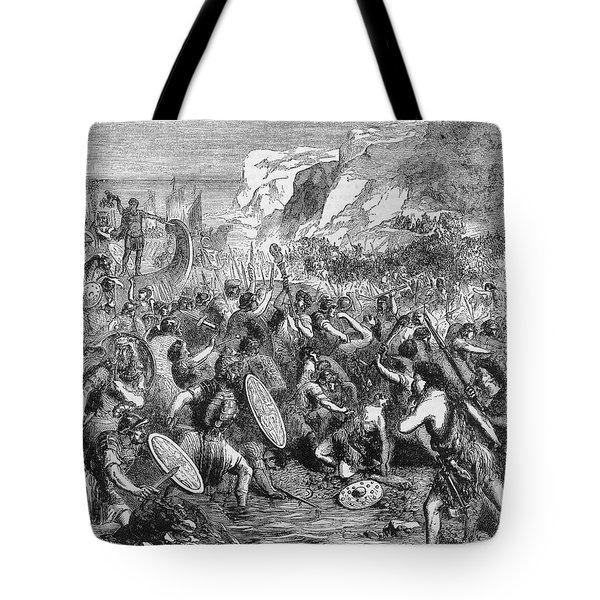 Roman Invasion Of Britain Tote Bag by Granger
