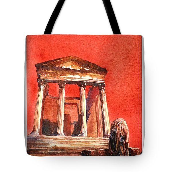 Roman Ruins- Tunisia Tote Bag by Ryan Fox