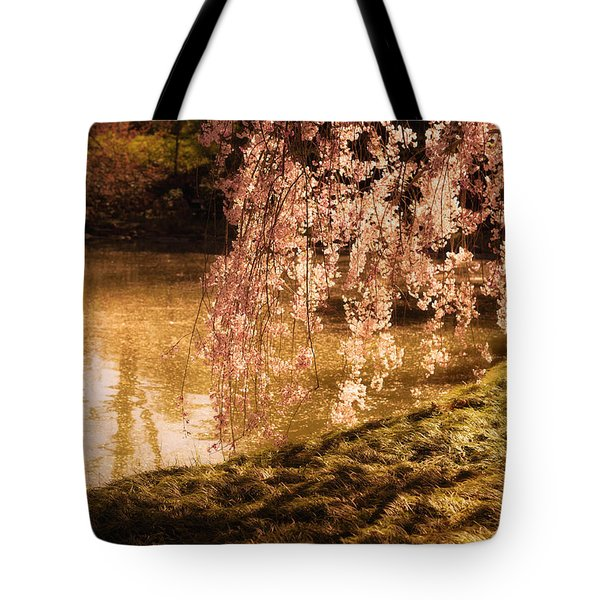 Romance - Sunlight Through Cherry Blossoms Tote Bag by Vivienne Gucwa