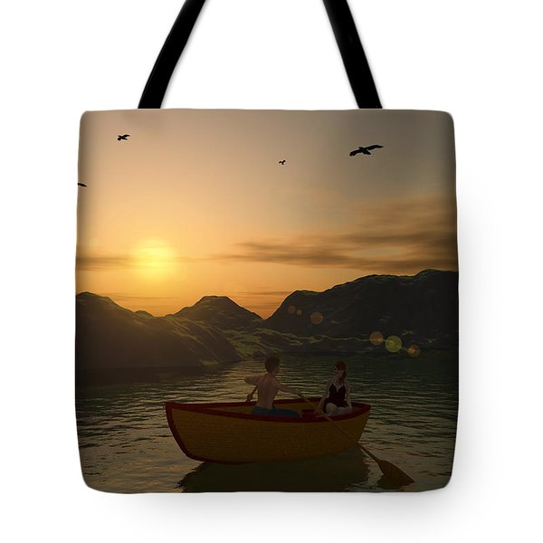Romance On The Lake Tote Bag