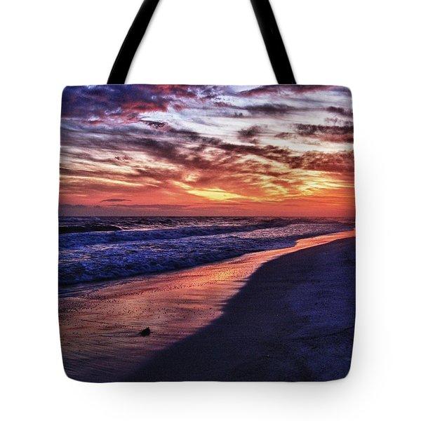 Romar Beach Sunset Tote Bag by Michael Thomas