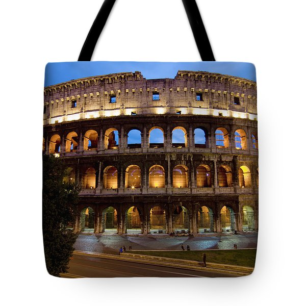 Rome Colosseum Dusk Tote Bag by Axiom Photographic