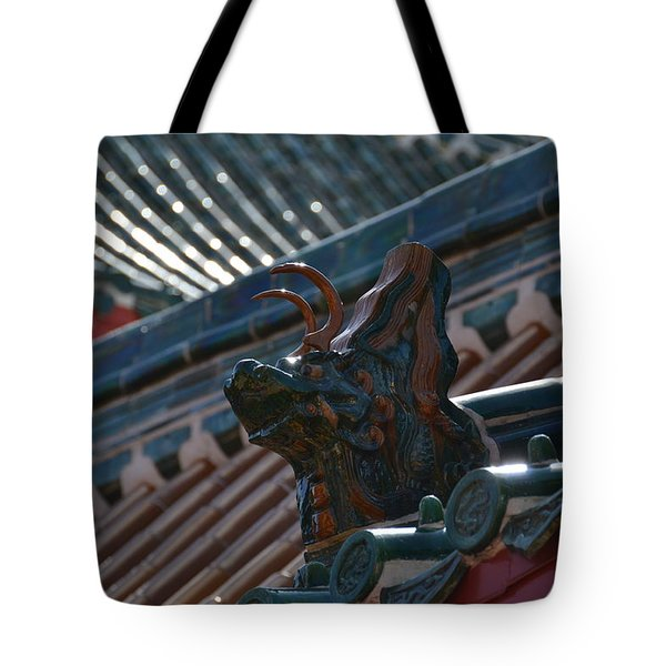 Rooftop Dragon Tote Bag