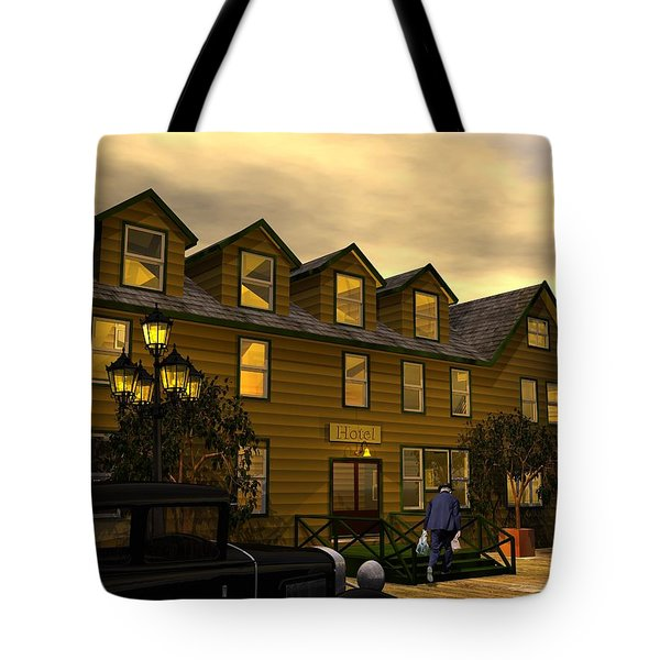 Tote Bag featuring the digital art Room And Board by John Pangia