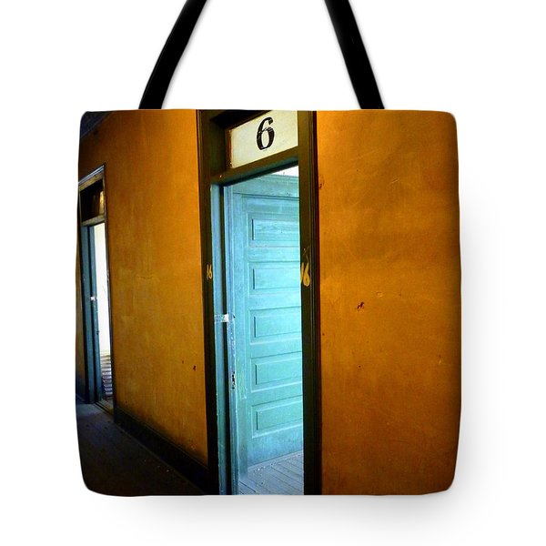 Room Six In Old Hotel Tote Bag by Renee Trenholm