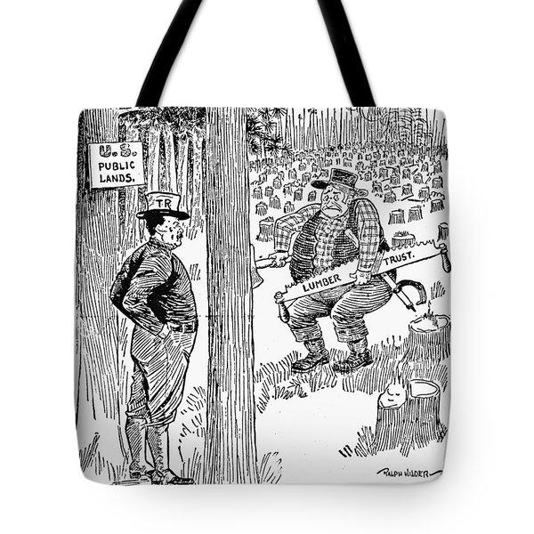 Roosevelt Cartoon, 1900s Tote Bag by Granger