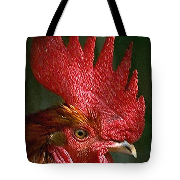 Rooster - Painterly Tote Bag