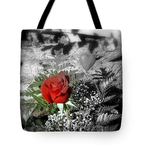 Rose Tote Bag by Cathyzcreations  Cathy Randall