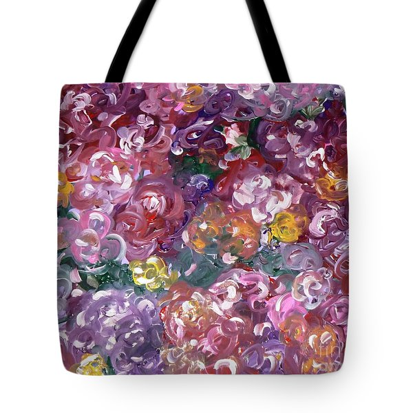 Tote Bag featuring the painting Rose Festival by Alys Caviness-Gober