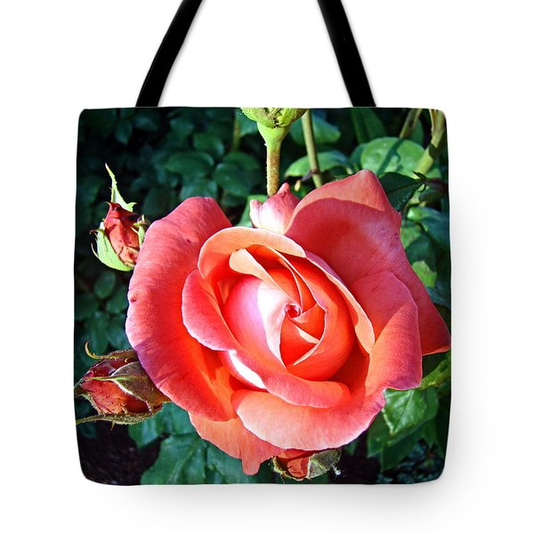 Rose In Setting Sun Tote Bag