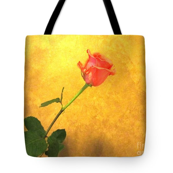 Tote Bag featuring the photograph Rose On Leather by Susan Carella