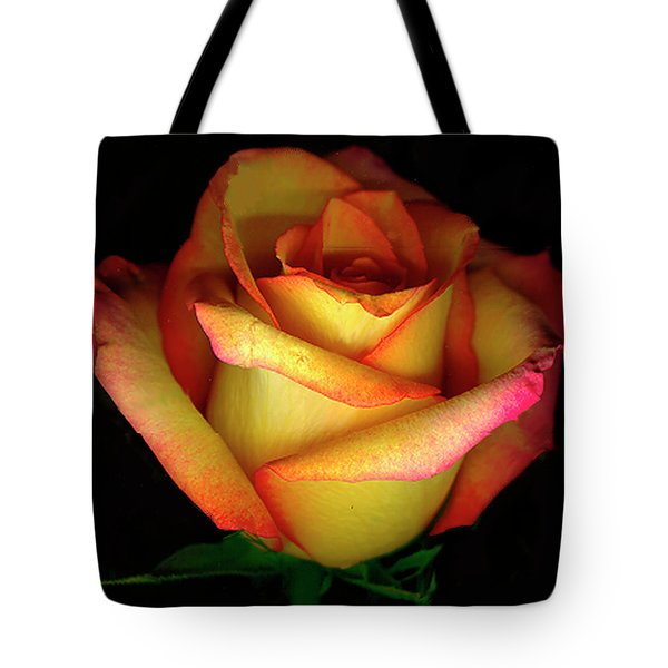 Rose Scan Day 3 No Lid Tote Bag by Paul Shefferly