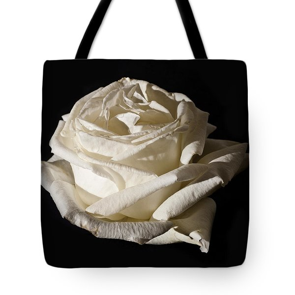 Tote Bag featuring the photograph Rose Silver Anniversary by Steve Purnell
