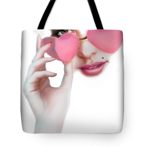 Rose Tinted Love Variant 1 Tote Bag by Andrew Farley