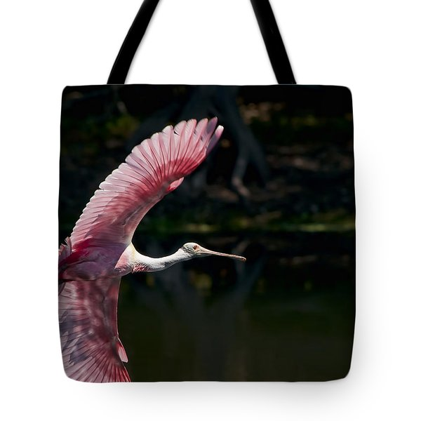 Tote Bag featuring the photograph Roseate Spoonbill by Steven Sparks