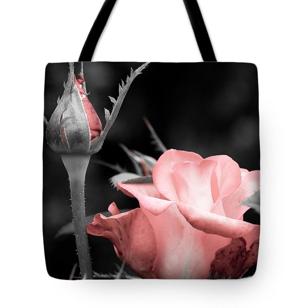 Tote Bag featuring the photograph Roses In Pink And Gray by Michelle Joseph-Long